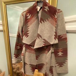 Aztec belted coat size S